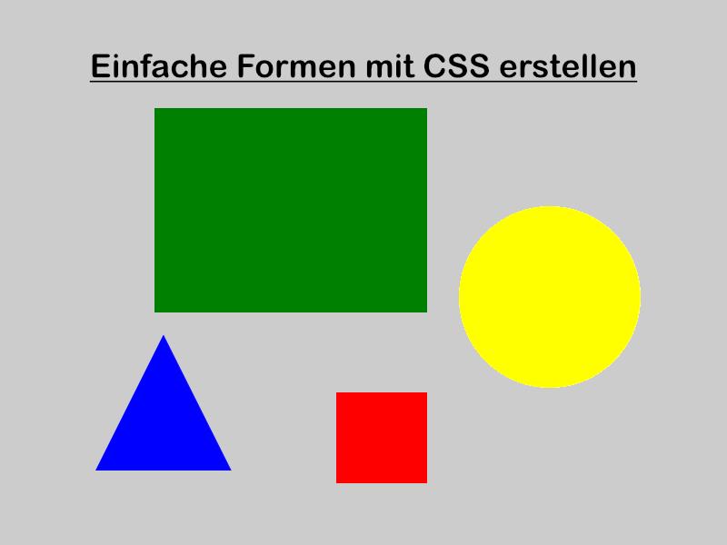 Wie erstellt man einfache Formen mit CSS? Die Lösung...