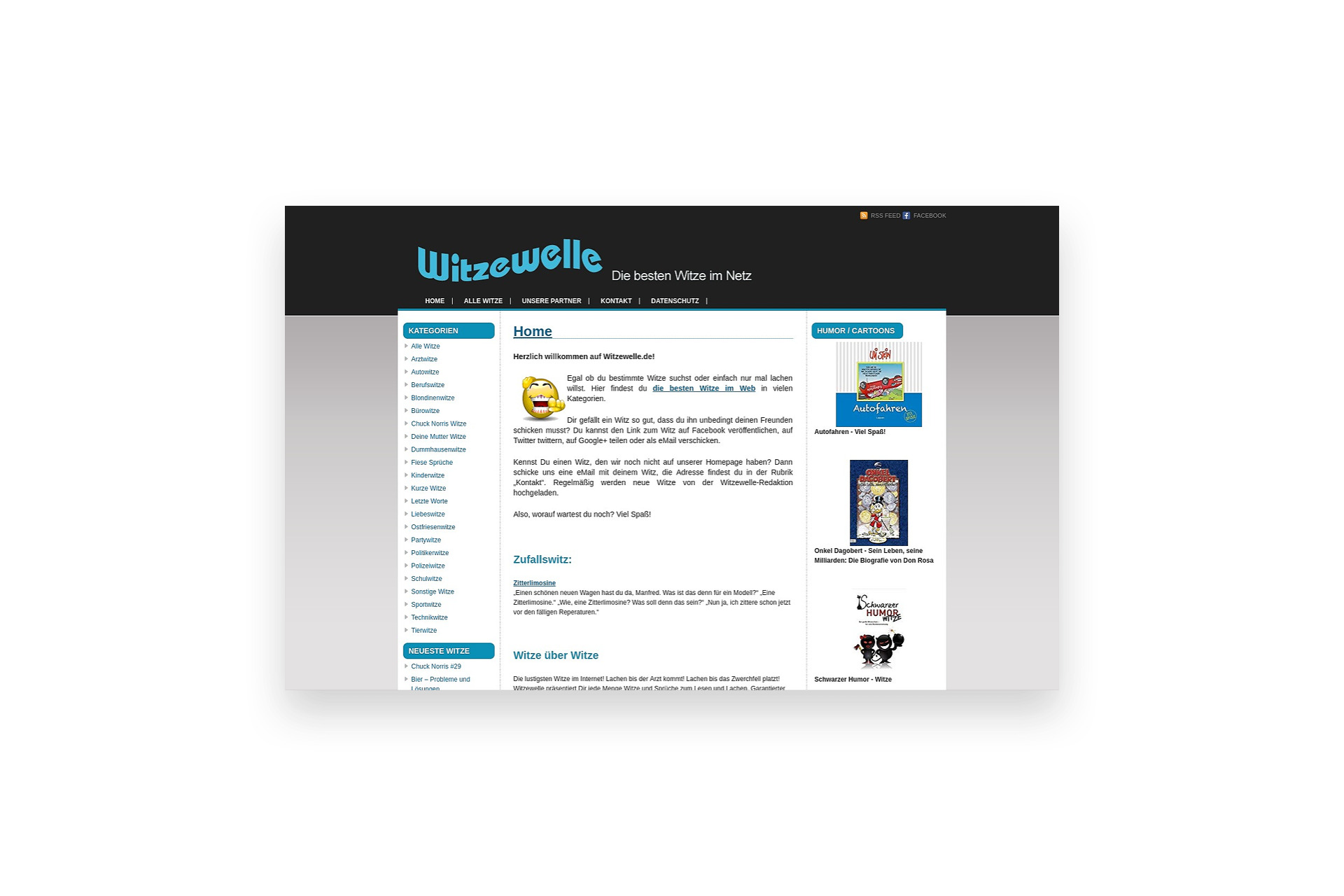 Onlineportal Witze Rietschdesign Webdesign In Hof Oberfranken